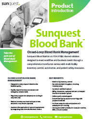 Blood Bank Product Intro
