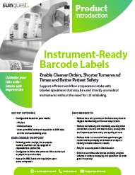 Instrument Ready Bardcode Labels Product Brief