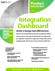 Integration Dashboard Product Brief