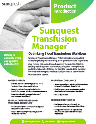 Transfusion Manager Product Brief
